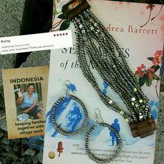 Gwac Java Bead Narrow Bracelet Set - Platinum