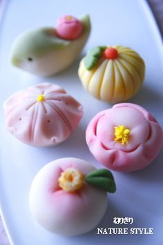 ねりきり Japanese traditional sweets | nerikiri | wagashi | These are student trial productions at wagashi school  #spring