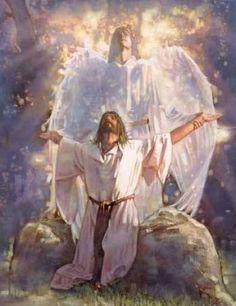 ✝Angel holding the arms af Jesus