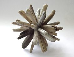 Driftwood Ball Sculptures - simple, clever and very textural.