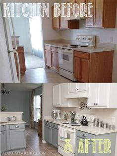 Earlier this year I took on a project that transformed our ordinary kitchen into a beautiful bright spot in our home. Hereis the post with before and after pictures. I chose to try the Cabinet Tra... Remodeling Mobile Homes, Mobile Home Renovations, Little Kitchen, Kitchen Redo, Kitchen Makeovers, Diy Kitchen Makeover, Kitchen Upgrades, Kitchen Backsplash Diy, Kitchen Facelift