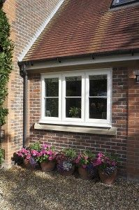 Beautiful, modern and traditional windows - Flush casement timber windows, all made to measure using engineered timber and top performance double glazing. Timber Windows, Sash Windows, Casement Windows, House Window Design, Tilt And Turn Windows, Traditional Windows, Window Fitting, Modern Properties, French Doors