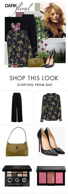 """""""Dark Florals"""" by polybaby ❤ liked on Polyvore featuring Zimmermann, Equipment, Tod's, Christian Louboutin, Bobbi Brown Cosmetics, Smashbox and darkflorals"""