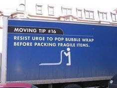 funny moving tip You are in the right place about house moving quotes Here we offer you the most beautiful pictures about the house moving logo you are looking for. When you examine the funny moving t Moving Humor, Moving House Quotes, Quotes About Moving On, Moving Checklist, Moving Tips, Packing To Move, Packing Tips, Pop Bubble, Moving Pictures