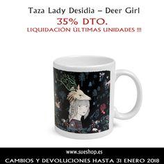 """Sigue aprovechándote de nuestra liquidación en últimas unidades y consigue la Taza de la colección """"Deer Girl"""" de Lady Desidia, ahora por tan solo 8,45€!!  @sueshop_es #ladydesidia #taza #oferta #liquidacion #ultimasunidades #descuento #sueshop"""