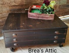 Repurposed blueprint cabinet coffee table filing coffee and flat file cabinet or blueprint cabinet turned into a coffee table we painted her black malvernweather Gallery