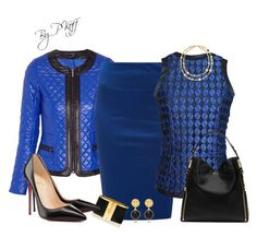"""""""Royal Blue & Black"""" by pkoff ❤ liked on Polyvore featuring Morgan, Funlayo Deri, Tory Burch, Michael Kors, Christian Louboutin, women's clothing, women's fashion, women, female and woman"""