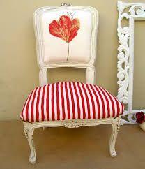 Butaca estilo Luis XVI retapizada Sillas tapizadas Upholstered