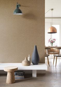 Pin from Wirzwelt Colorful Wallpaper, Cool Wallpaper, Wallpaper Collection, Living Room Inspiration, Im Not Perfect, Delicate, Colours, Vase, Lighting
