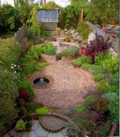 Back Gardens, Small Gardens, Outdoor Gardens, Brick Patterns Patio, Backyard Landscaping, Backyard Ideas, Garden Ideas, Landscaping Ideas, Patio Ideas
