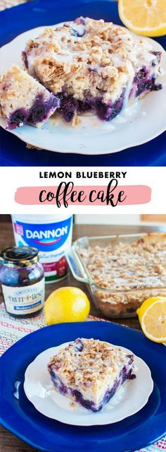 One bite of this Lemon Blueberry Coffee Cake and all your family will be able to say is yum! Whether you choose to serve it up for weekend brunch or a sweet morning treat, the creamy citrus and fruit combination of plain Dannon Yogurt and Smucker's Blueberry Lemon Fruit and Honey Spread simply can't be beat. Find everything you need to make this recipe at Kroger.