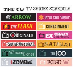 The CW US Network TV Series 2016 // Sticker Planner by FasyShop
