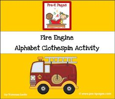 Fire Safety Letter Matching Activity via www.pre-kpages.com