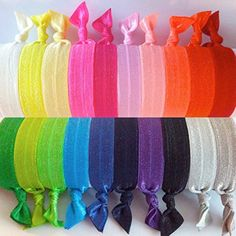 Hair Ties - No Crease 20 Pack by Just Knotted http://www.amazon.com. A little bit more expensive but they don't break!
