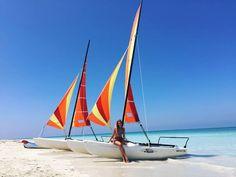 Paradise!  . . . . #paradise #cuba #varadero #beach #instabeach #lifeisabeach #sun #sunny #holiday #instatravel #tbt #missit #wannagoback #whitesand #bluesky #clearwater #placetobe #holidaygoals #bikini #hot #summer #boat #polishgirl #blonde #happy #l4l #f4f