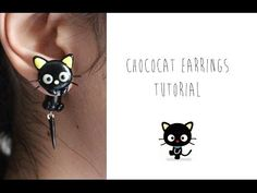 Chococat earrings polymer clay tutorial