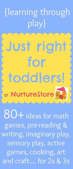 The very best activities for toddlers :: math games, sensory play, art and crafts, outdoor play, active games, imaginary play and more!