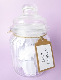 A Jar of Love - Valentines Engagement Wedding Anniversary - Handmade Quote Gift