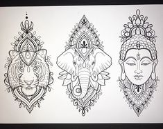 I have these designs available! Would love to tattoo them 💗🌸 black and grey or colour! 🌸💗 taking bookings for April ! Sponsored by… Buddha Tattoo Design, Buddha Tattoos, Elephant Tattoo Design, Mandala Tattoo Design, Elephant Tattoos, Tattoo Designs, Mandala Elephant Tattoo, Henna Mandala, Mandala Drawing