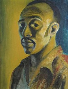 GERARD SEKOTO - Self-Portrait, 1947 - South African modernist and pioneer of urban black art and social realism. Gerard Sekoto, Selfies, Pop Art, L'art Du Portrait, South African Artists, Art Brut, African American Art, Art Moderne, Oeuvre D'art