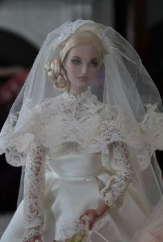 Barbie Wedding Dress, Barbie Dress, Barbie Clothes, Barbie Outfits, Bride Dolls, Pretty Dolls, Doll Face, Fashion Dolls, Wedding Gowns