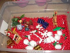 Christmas sensory tub.