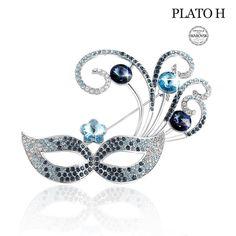 Brooches PLATO Swarovski Crystals Fashion - CA12N2F83ZF - Brooches & Pins  #jewellrix #Brooches #Pins #jewelry #fashionstyle