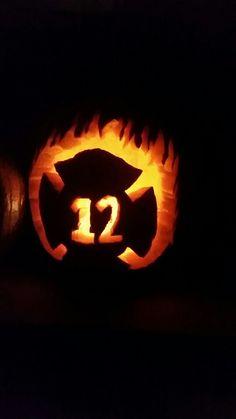 Fire fighter pumpkin Halloween Camping, Pumpkin Halloween Costume, Baby Halloween Costumes, Baby Costumes, Halloween 2018, Halloween Pumpkins, Halloween Party, Halloween Stuff, Halloween Ideas