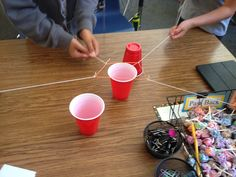This is a great beginning of the year/end of the year cooperative challenge. Students needed to work together using a rubber band and string...