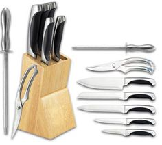 With sharp edged blade made of stainless steel get avail Cheap Kitchen Knife Set without any hassle of going outside to the shop or to the cutlery shop.http://mytypesofknives.com/ginsu-04817-international-traditions-14-piece-knife-set-block-natural/