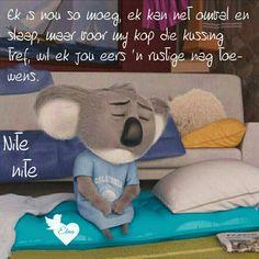 Goeie Nag, Afrikaans Quotes, Sleep Tight, Day Wishes, Good Night, Nighty Night, Good Night Wishes