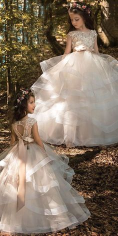 flower dresses Pretty Tulle & Elasticated Net Bateau Neckline Ball Gown Flower Girl Dresses With Lace Appliques & Beadings & BeltFabric: Tulle & Elasticated NetDetails: The dress is Cute Flower Girl Dresses, Baby Girl Dresses, Kid Dresses, Girls Pageant Dresses, Lace Flower Girls, Long Dresses, Summer Dresses, Champagne Flower Girl, Kids Gown