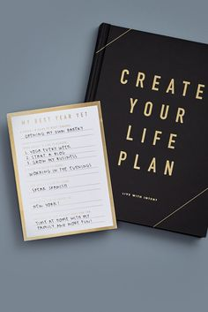 Stick to your New Year's Resolutions with this Postcard and Life Plan Book Kikki K Planner, Planner Book, Filofax, Life Organization, Organisation Ideas, Motivational Thoughts, Light Music, Life Plan, Swedish Design