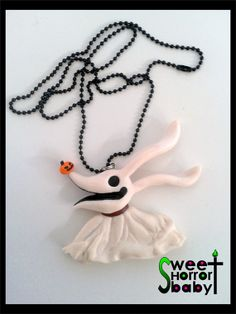 Zero Nightmare before christmas necklace by SWEETHORRORBABY, €20.00