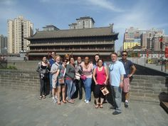 Dominican Students and Faculty on Xi' an China's city wall