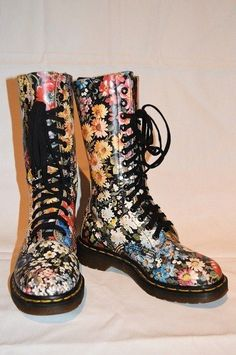 Vintage Floral Doc Martens very pricey but uber cute!