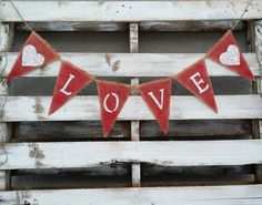 Love Burlap Banner, Valentines Banner, Photo Prop, Wedding Prop