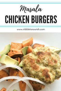 masala chicken burger pinterest graphic