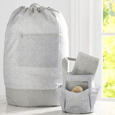 Shower + Laundry Set, Mini Dot | PBteen