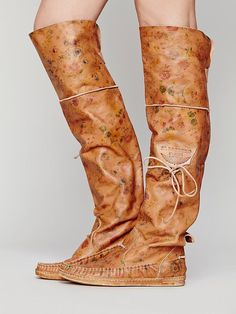 El Vaquero Fiorato Tall Moccasin at Free People Clothing Boutique Moccasin Boots, Moccasins, Fall Shoes, Summer Shoes, Women's Motorcycle Boots, Women Motorcycle, Gladiator Boots, Floral Boots, Womens Flats
