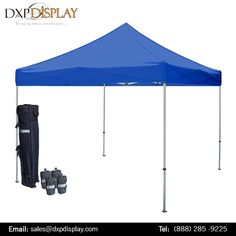Pop Up Canopy Tents are ideal product to do great outdoor promotion at a very basic price. The aluminum frames and the canopy sheet is weather resistant, thus is highly durable and long lasting. This outdoor Canopy Tent comes with a carrying bag which makes it portable.