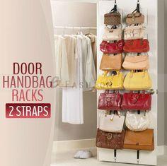 1 Set Hook Bag Hat Clothes Over Door Hanger Adjustable Strap Organiser 302-0301
