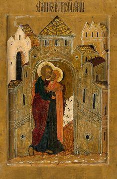 Joachim and Anna Santa Ana, Russian Icons, St Anne, Orthodox Icons, Sacred Art, Virgin Mary, Medieval, Saints, Spirituality