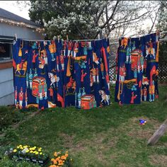 Vintage Sears Curtain Panels by lishyloo on Etsy