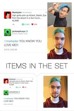 """Markiplier & JackSepticEye"" by introvertednovelist ❤ liked on Polyvore featuring art"