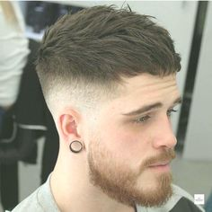 Short Hair With Beard, Curly Hair Men, Hair And Beard Styles, Curly Hair Styles, Gents Hair Style, Style Hair, New Hair Do, Men Hair Color, Faded Hair