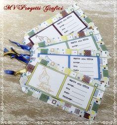 BIGLIETTI TAG COMPLEANNO BIMBO/INVITO ALLA FESTA, by Progetti Grafici per Matrimoni ed Eventi, 1,99 € su misshobby.com