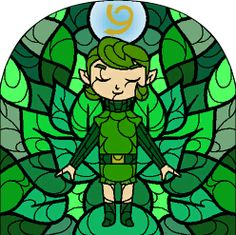 The Six Sages stained glass windows from The Legend Of Zelda: The Wind Waker.
