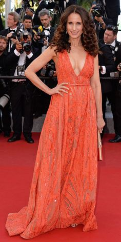 The Best of the 2015 Cannes Film Festival Red Carpet - Andie MacDowell in Elie Saab. from #InStyle