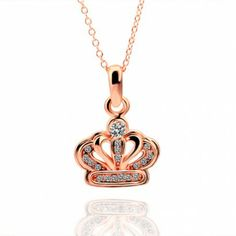AEKK 18K Rose Gold Crystal Crown Necklace'  Adjustable Ring,Blackfriday big sale:save 45% off & free gift.Promo time:Nov.23--Nov.30.Share with facebook,pinterest or twitter,enter AEKK5 at checkout to save $5.Click here at www.aekk.com for details.Great amzings are waiting for you.Hurry up!!